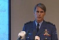 Generaal Berlijn tijdens de persconferentie maandag.
