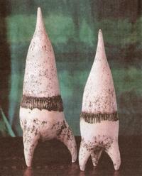 Hansje van Houten - Reketvogels - keramiek